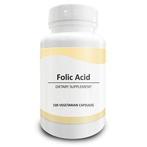 Pure Science Folic Acid 1000mcg – 100 Capsules végétariennes