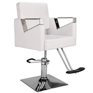 Chaise pivotante réglable en cuir PU pour coiffure, coiffure, coiffure, salon