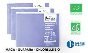 Chlorelle – Guarana – Maca | 336 Comprimés et Gélules de Compléments Alimentaires à base de Plantes Certifiées BIO | Cure Energy Detox BIO de 12 semaines | Vitalité – Detox – Energisant – Panda Vita