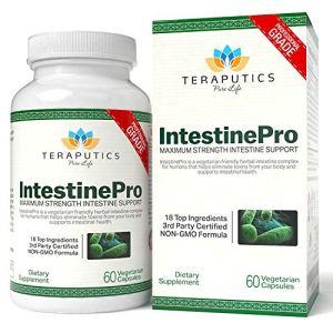 IntestinePro 10-Day Intestine Support IntestinPro 10-Day Intestin soutien pour les humains avec absinthe non-OGM, noix noire, échinacée + 15 ingrédients plus Premium, 1485mg, 30 portions