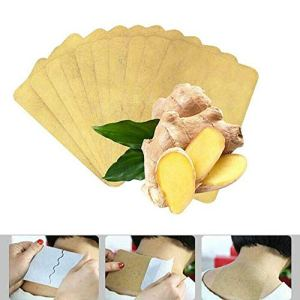Buimin 10/ 50PCS Bâton de plâtre à base de plantes de fines herbes anti-gonflement de gingembre étonnante soulagement du stress circulation sanguine Fever Stickers Ginger Warm (10PCS A)