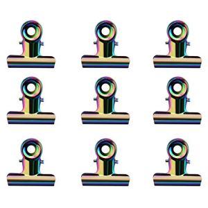 Buimin Extension du bac à papier C Pince en forme de courbe Pince fixe La fonction multi de C Curve Pinching agrafe des outils acryliques de clou Ongles Pour Gel Ongles avec 5PC (9PC Multicouleur)