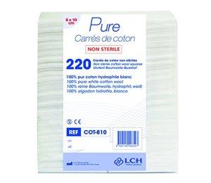 LCH- Coton Rectangle 8 X 10 cm – Idéal pour le change de bébé – Adapté pour le démaquillage