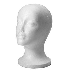 Romote Femme mousse de polystyrène mousse Modèle de tête Manikin Mannequin perruque cheveux Lunettes Hat Affichage