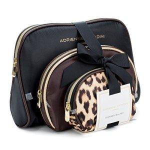 Adrienne Vittadini Lot de 3dôme Trousse Real Leopard