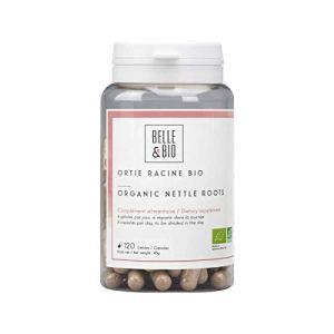 Belle&Bio – Ortie Racine Bio – 120 gélules – 300 mg – Élimination – Certifié Bio par Ecocert – Fabriqué en France