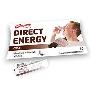GoMo ENERGY® Poudre vitaminée rapide | Coup de boost fort pour énergie d'esprit et de corps | Meilleure concentration | Performance et endurance physiques améliorées | DIRECT COLA 30 portions