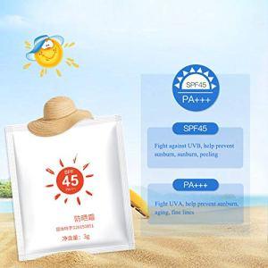 Yiitay SPF45 Crème Solaire Hydratante Imperméable À L'eau Sueur Anti-UV Voyage Paquets Visage Et Corps Crème Solaire