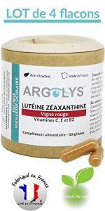Argolys® – Lutéine, Zéaxanthine, Vigne rouge, bêta-carotène, vitamines, zinc et sélénium (4 flacons)