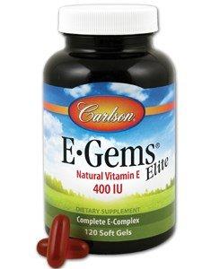 Carlson Labs – E-Gems Elite Natural Vitamin E 400 IU – 120 Softgels