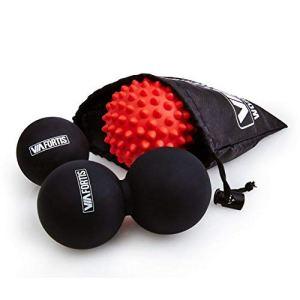 VIA FORTIS Lot de 3 balles de Massage pour Massage des Tissus conjonctifs avec Sac Pratique