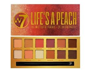 W7 Ultimate Eyeshadow Collection Dusk Till Dawn, Life's A Peach, On The Rocks & Romanced Set of Four Nudes, Peaches Violet and Neutrals