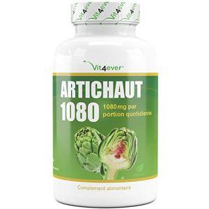 Artichauts 1080-150 gélules végétaliennes – 1080 mg d'extrait d'artichaut par portion quotidienne – 2,5% de cynarine – testé en laboratoire – Vit4ever