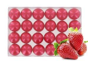 Boîte de 24 perles d'huile de bain – Fraise nacré