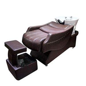 DNNAL Chaise de shampooing, unité de Lavage à Contre-Courant de lit de shampooing Semi-allongé