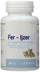LEPPIN – Fer 90 comprimés – BISGLYCINATE de FER 70mg- Haute biodisponibilité – Compléments alimentaires naturels