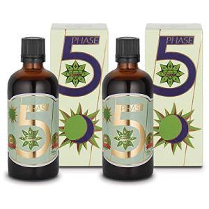 Cvetita Herbal, 2 x Phase 5 extrait 100 ml liquide de menthe, aubépine et valériane, il favorise la digestion et le métabolisme, il apaise tout le corps et active les processus de récupération