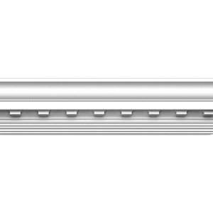 Focal Point 23130 4 1/8-Inch Concord Dentil Crown Moulding 4 1/8-Inch by 8 Foot, Primed White, 8-Pack by Focal Point