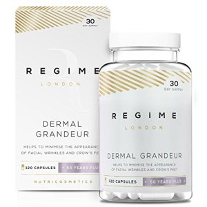 Regime London Dermal Grandeur – Wrinkle Remover Skin Care Supplement – MSM (Methylsulfonylmethane) Formula 360 Capsules