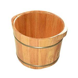 WYNZYYX Foot Bath Barrel, Cuve De Pédicure Spa Massage Maison Pied Cuve Pédicure Lisse Et Délicate, avec Couvercle, 36 × 26 Cm