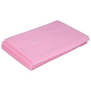 Lot de 10 draps de lit jetables professionnels non tissés imperméables 180 x 80 cm rose
