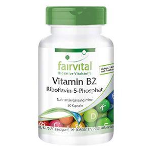 Riboflavine-5-Phosphate – dosage élevé – VEGAN – 90 Capsules – Vitamine B2