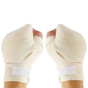 Supporter Crochet de fermeture de boucle blanc cassé boxe Bandages Bandages Paire