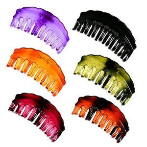 WOWOSS 6 Grands Pinces à Cheveux Vintage pour Femmes Filles, Pinces à Griffes Multicolores pour Femmes Filles pour Longs Cheveux Épais