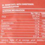 Prozis Avoine Instantanée en poudre 1 250 g Chocolat