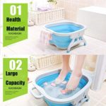 Baril De Pédicure Pliant Bain de pieds soins des pieds Spar Bassin d'eau Portable Masseurs pour Les Pieds (Bleu)