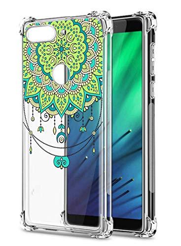 Suhctup Coque Comaptible avec Google Pixel 4 XL Étui Houssee,Transparent Motif Fleur [Antichoc Protection des Coins] Crystal Souple Silicone TPU Bumper Case Cover pour Google Pixel 4 XL,A2