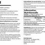 TRU NIAGEN Chlorure de riboside de nicotinamide – Précurseur breveté NAD pour la réduction de la fatigue et de la fatigue, capsules de 300 mg végétariennes, 300 mg par portion, bouteille de 90 jours