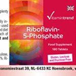 Vitamine B2 Comprimés – 180 Comprimés – dosage élevé – Riboflavine-5-Phosphate