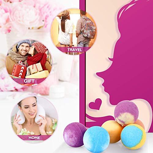Bombes de Bain de 16 PCS-Peradix Cadeau Boules de Bain Enfant et Femme avec Huiles Essentielles et Pétillantes poudre de perle pour Le Bain Moussant, Comme Spa Luxueux pour Bomb de bain