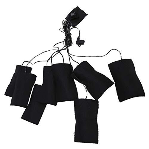 Coussin chauffant électrique, fibre composite, pratique, coussin chauffant pour vêtements, chargement USB, 80 x 120 mm, coussin chauffant électrique