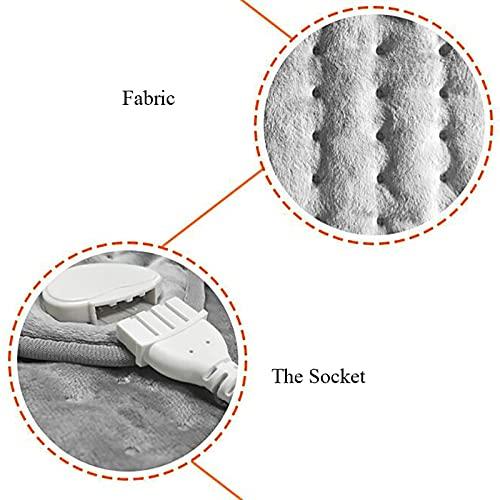 coussins chauffants pour le cou et les épaules, coussin chauffant électrique pour les maux de dos et les crampes, 6 réglages de chaleur réglables et 4 réglages de minuterie