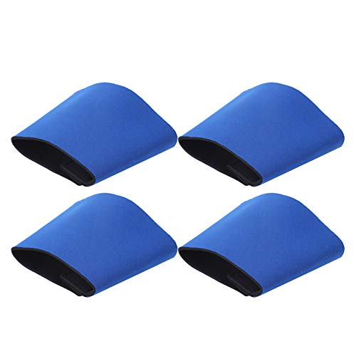 Ligne de couture lisse Housse de protection de bouteille légère avec couvercle de bouteille d'eau chaude, pour remplacer la couverture de tasse de papier jetable et la serviette(blue)