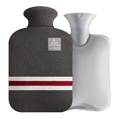 Zhou-YuXiang Sac à Main Chaud portatif et Couverture en Tissu de Blocage des Couleurs bouillotte avec Housse en Flanelle Sac en PVC Chaud d'hiver
