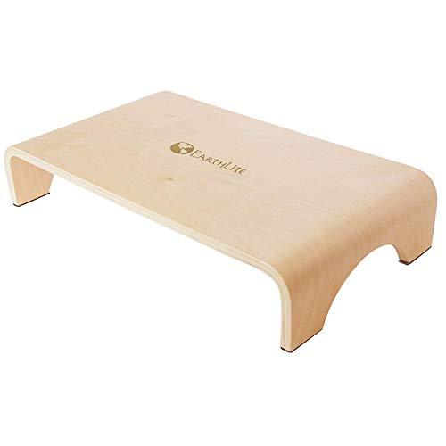 EARTHLITE Marche en bois petit format – 10cm de haut, solide et stable