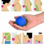 Ranvo Balle de Massage, Balle d'entraînement à Prise Souple imperméable de rééducation, Remise en Forme pour la décompression d'exercice des Doigts(Blue)