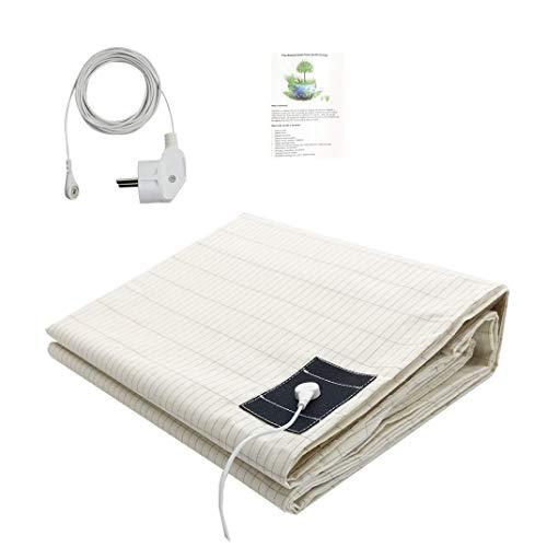 Drap de mise à la terre avec câble de mise à la terre UE pour un meilleur sommeil Protection EMF 193 x 203 cm