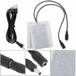 EVTSCAN Coussin Chauffant, Coussin Chauffant Portable en Fibre de Carbone 5V Chauffe-Mains USB Tapis Chauffant électrique pour fièvre
