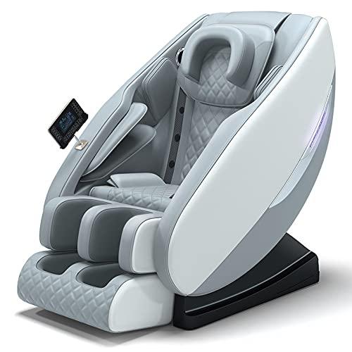 N/A Shiatsu Fauteuil de massage multifonction de luxe pour personnes âgées, avec grand capuchon, chaise de massage Deluxe Zero Gravty pour le bureau à la maison