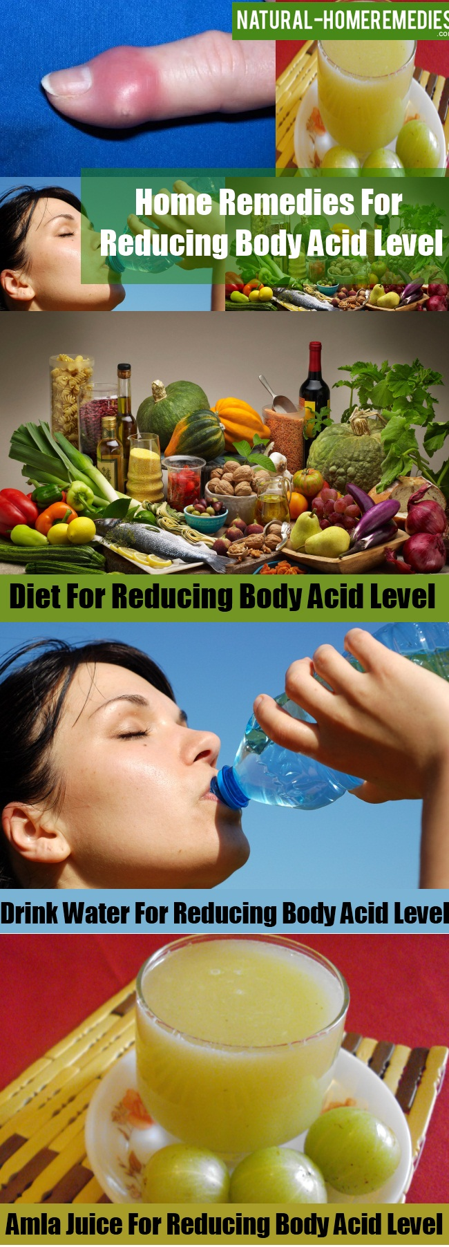 Remedies For Reducing Body Acid Level