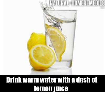 warm water with lemeon