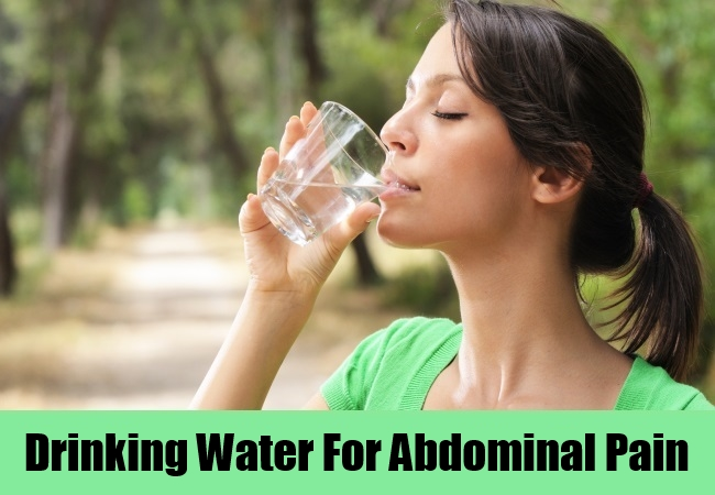Drinking Water For Abdominal Pain