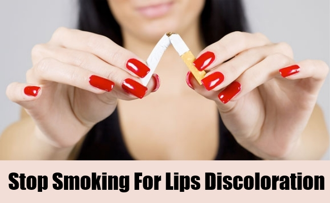 Stop Smoking For Lips Discoloration