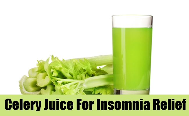 Celery Juice For Insomnia Relief