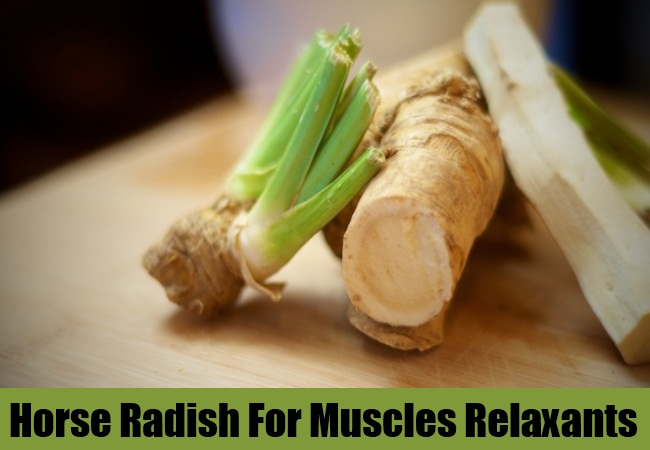 Horse Radish For Muscles Relaxants