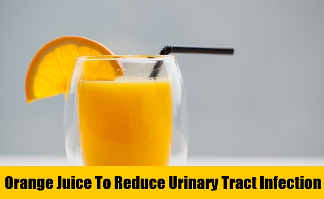 Orange Juice To Reduce Urinary Tract Infection